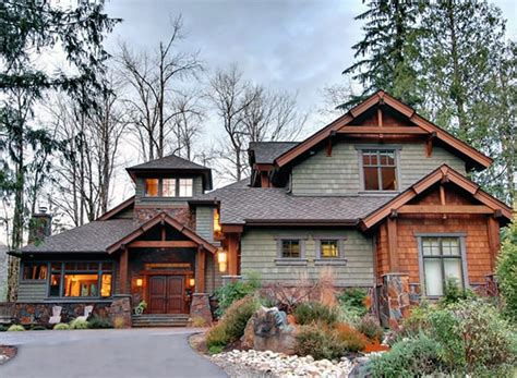 Rustic Craftsman Home Plans by Architectural Designs