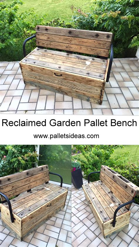 reclaimed garden bench reclaimed garden pallet bench pallet ideas recycled