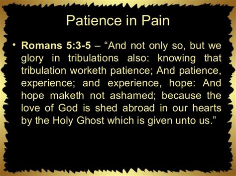 The Of God Is Shed Abroad In Our Hearts by Patience