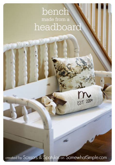 how to make a bench from a headboard headboard bench somewhat simple
