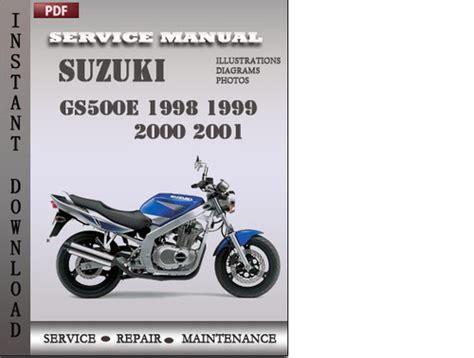 Free 1989 1999 Suzuki Gs500e Service Manual Download