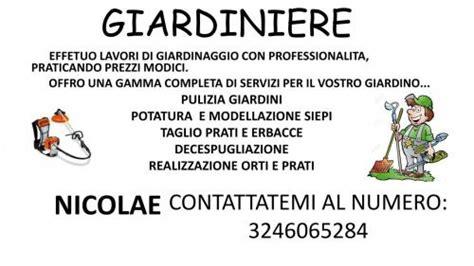 lavoro giardiniere roma roma giardiniere servizi giardinaggio annunci net