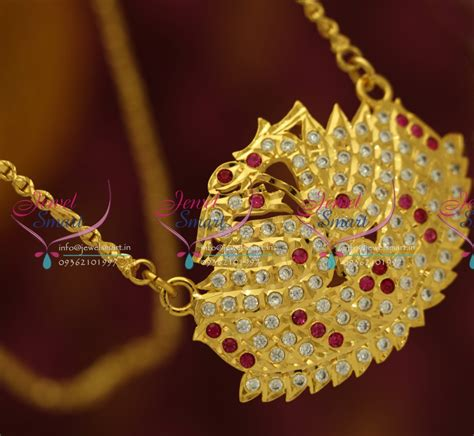 Handmade Gold Chain Designs - pc5567 ad pendant chain south indian traditional jewellery