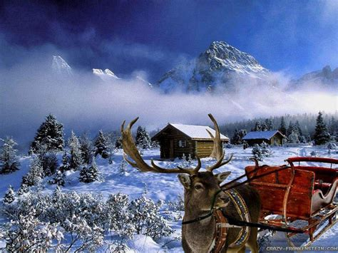 wallpaper christmas scenes winter wallpapers scenes wallpaper cave