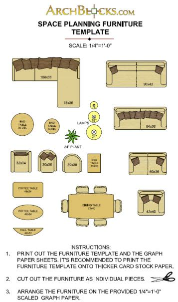 Furniture Templates print out printable furniture template home