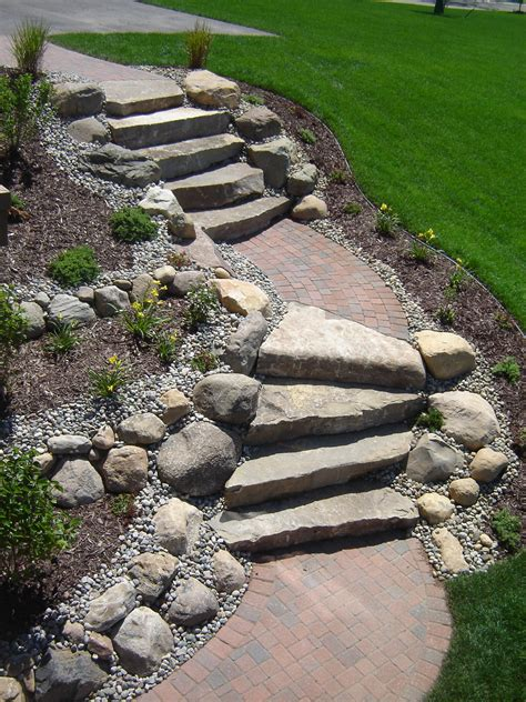 landscaping stairs limestone stairs with brick paver landings steps and