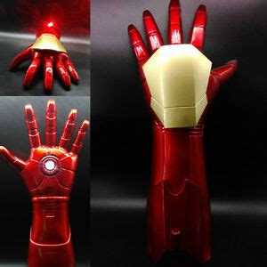 avengers iron man stark gauntlet glove led light hand