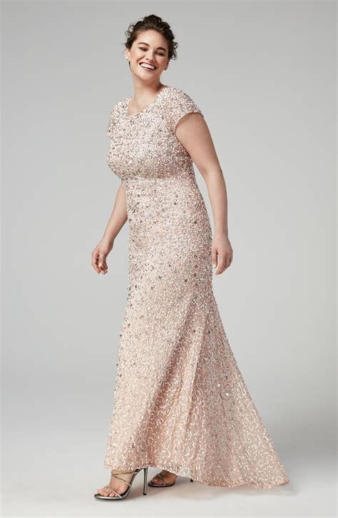 Magnificent Plus Size Champagne Bridesmaid Dresses   Pink