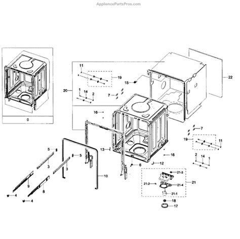 samsung dishwasher parts diagram parts for samsung dw80h9930us aa 0000 tub assy parts
