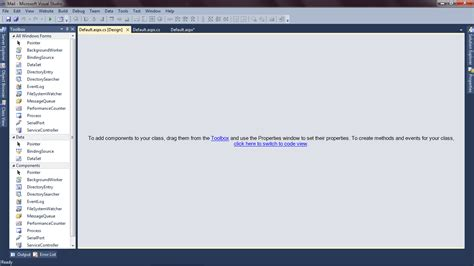 visual studio form design disappeared designing page in visual studio 2010 stack overflow