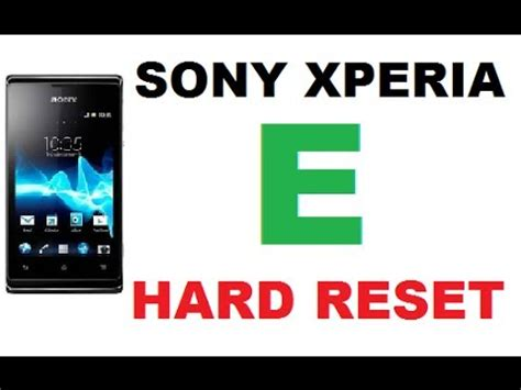 reset software sony xperia how to hard reset wipe data on sony xperia e factory reset