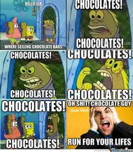 Chocolate Spongebob Meme - spongebob chocolate old lady meme pictures to pin on