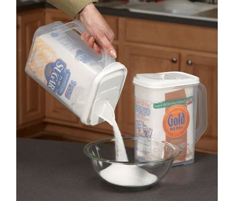 flour storage ideas buddeez flour and sugar storage container at chefs food