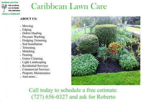 Landscaping Advertising Ideas Lawn Care Flyers