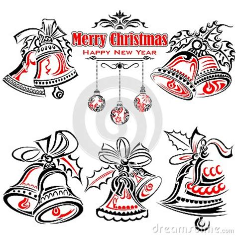 tattoo girl jingle bells tattoo style of christmas jingle bells stock vector