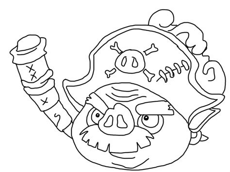 coloring pages of angry birds pigs angry birds epic coloring page pirate pig my free
