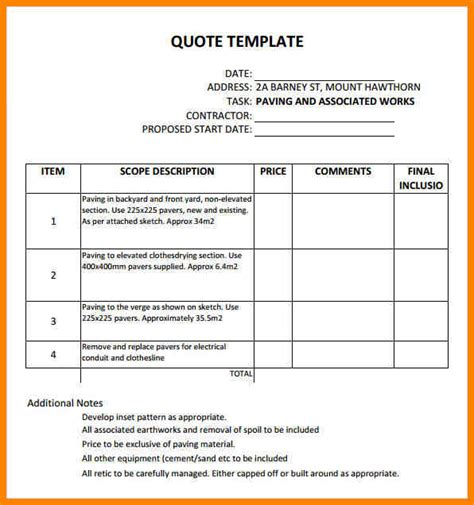 quotation sle 10 quotation sle format tutor