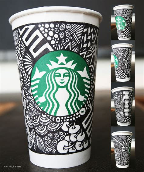 design cups starbucks unveils the white cup contest winning design