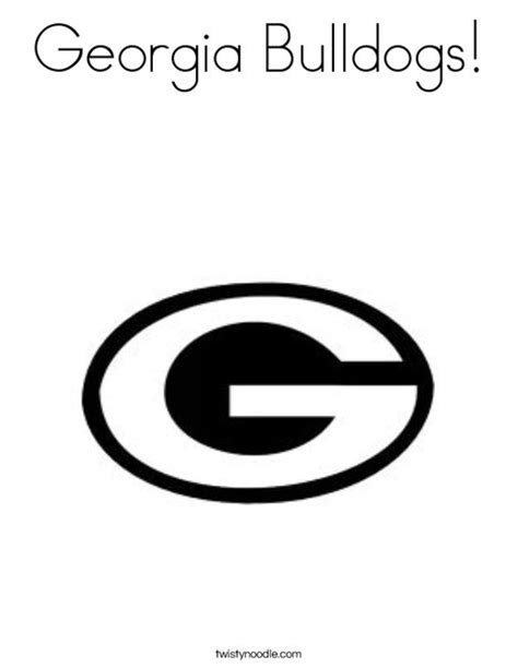 georgia dawgs logo coloring pages coloring pages