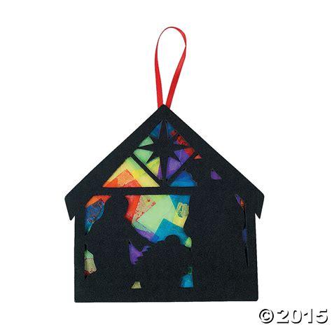 Nativity Paper Craft - religious tissue paper nativity craft kit 12 pk