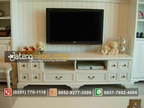 toko furniture jual bufet tv lcd pendek minimalis laci