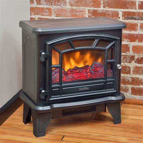 Chimney Free Electric Stove Heater - duraflame 550 black electric fireplace stove dfs 550 21