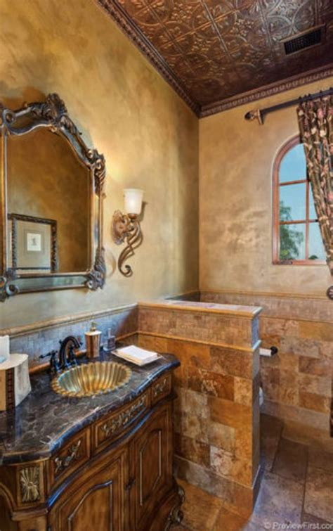 tuscan bathroom love the stone sink old world mediterranean italian spanish tuscan homes 59a46ac5b6cce60569d638f0533091a0 jpg 754 215 1 202 pixels