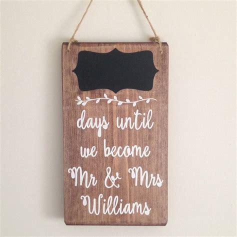 Handmade Chalkboard - personalised wedding countdown chalkboard handmade sign by