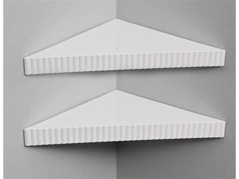 Triangle Corner Shelf by Reusable Triangular Corner Shelves 2 Pack