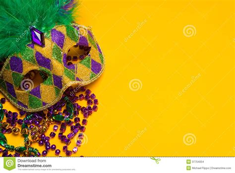 mardi gras powerpoint template mardi gras or venetian mask on yellow stock images image
