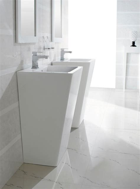 Modern Pedestal Bathroom Sinks Bresica Modern Bathroom Pedestal Sink Bathroom Sinks Dallas By The Interior Gallery