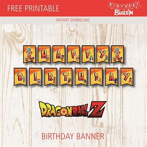 Free Printable Dragon Ball Z Birthday Banner Birthday Buzzin Z Banner Template
