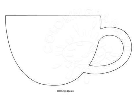 coffee cup template foods and drinks coloring page