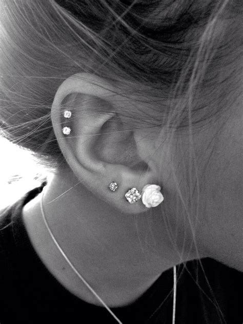 40 Latest Ear Piercings Ideas And Designs Golfian Com And Piercing