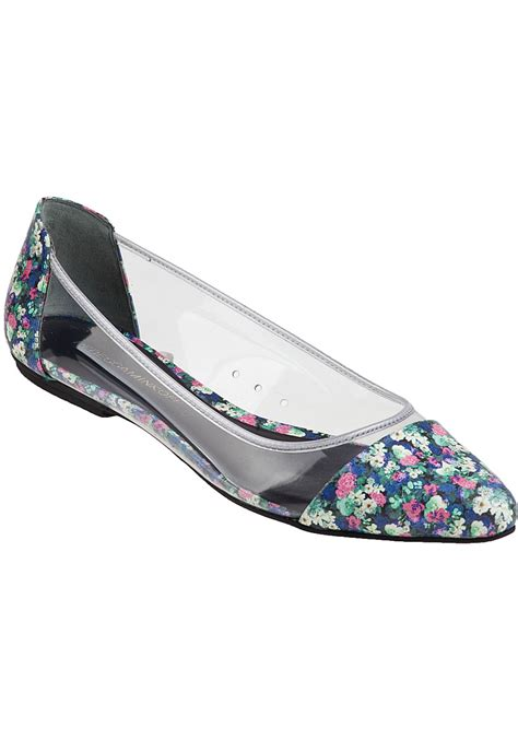 clear flats shoes lyst minkoff isadora ballet flat clear floral