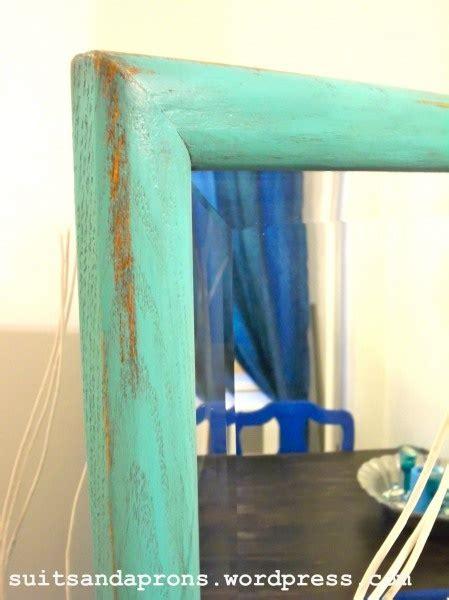 chalk paint and araucana teal mirror painting furniture valspar and martha stewart paint