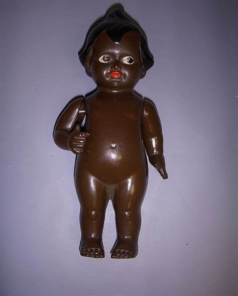 black kewpie doll vintage german celluloid black kewpie character doll from