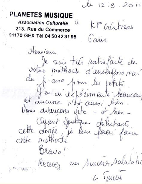 Lettre De Remerciement D Un Eleve A Prof T 233 Moignages Sur Les Cours De Musique M 233 Thodes Du Tout Petit Conservatoire
