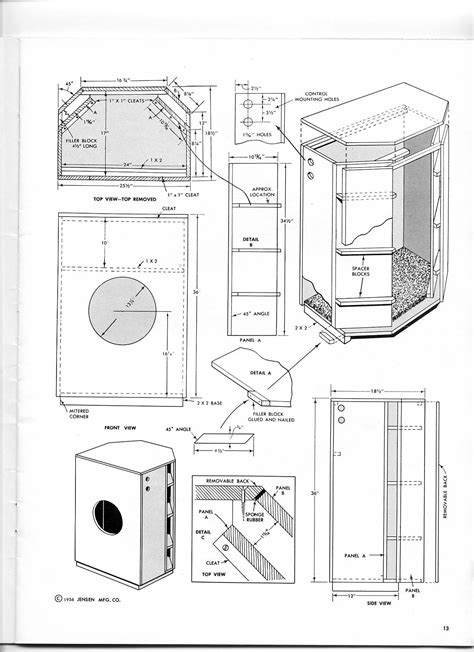 Bass Cabinet 2x12 Bass Speaker Cabinet Design Plans Imanisr Com