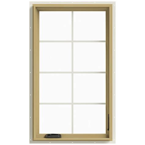 Jeld Wen Aluminum Clad Wood Windows Decor Jeld Wen 28 In X 48 In W 2500 Right Casement Aluminum Clad Wood Window Thdjw140100423
