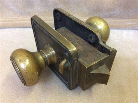 Bedroom Door Locks Ebay Vintage Antique Corbin Lock Solid Brass Hotel