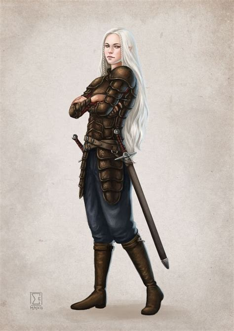 female warrior hair elwene ehrwald private commission by elifsiebenpfeiffer