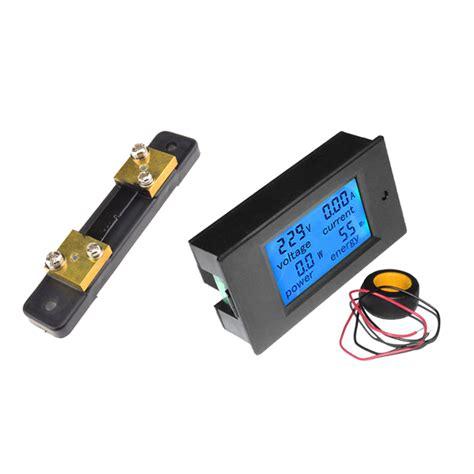Len 8 Volt 3 Watt by 50a Lcd Digital Volt Watt Current Power Meter Ammeter