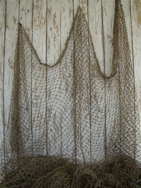 decorative fish net wall decoration authentic used fishing net vintage fish netting decor