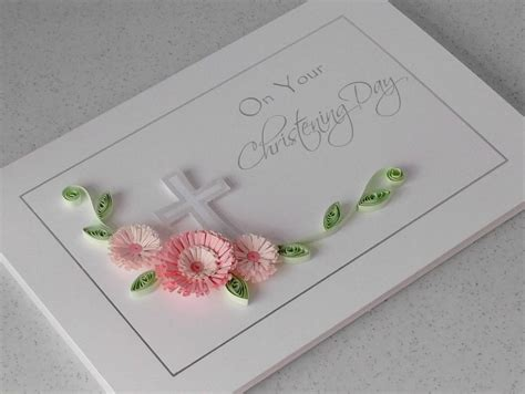 How To Make Paper Quilling Cards - paper cards quilled christening card