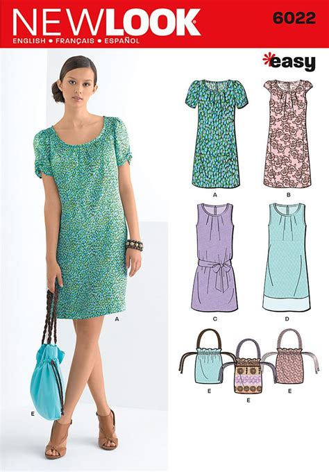 pattern finder sewing new look 6022 misses dresses bag bag sewing patterns