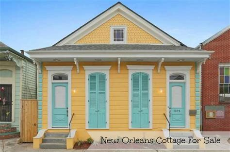 French Country Cottage Floor Plans New Orleans Cottage For Sale Is Bright Yellow And Blue