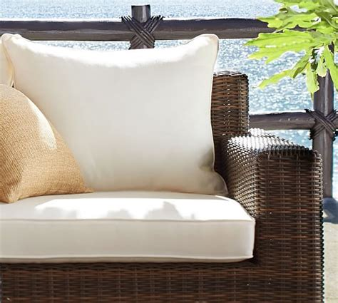 outdoor sofa cushion covers torrey outdoor furniture cushion slipcovers pottery barn