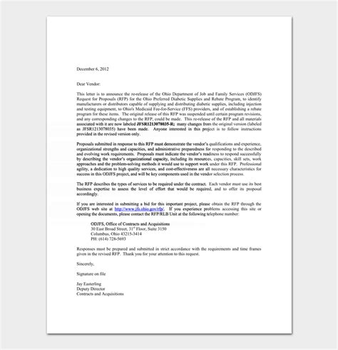 bid rejection letter samples examples