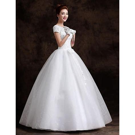 Floor Length Dresses Uk by Gown Floor Length Wedding Dress Bateau Lace Cheap Uk